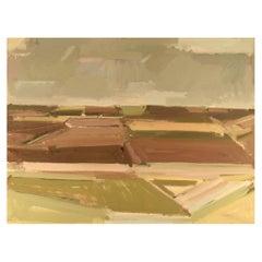 Frans Vester Pedersen, Modernist Landscape, Oil on Canvas