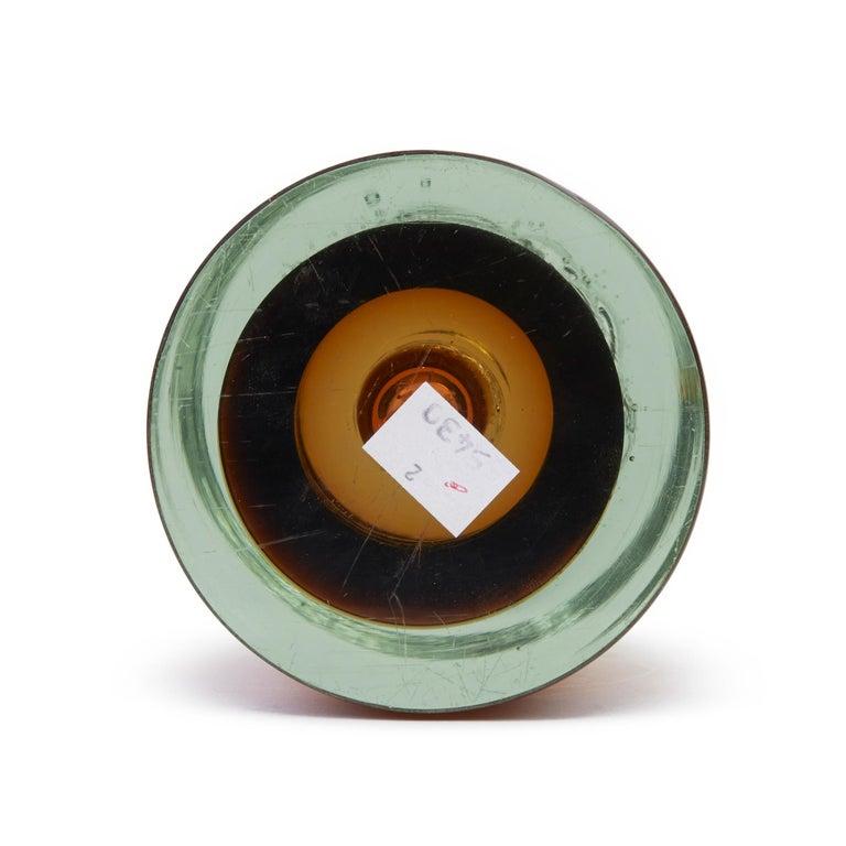 Hand-Crafted Frantisek Vizner for Skrdlovice Czech Cinnamon Art Glass Vase, circa 1960 For Sale