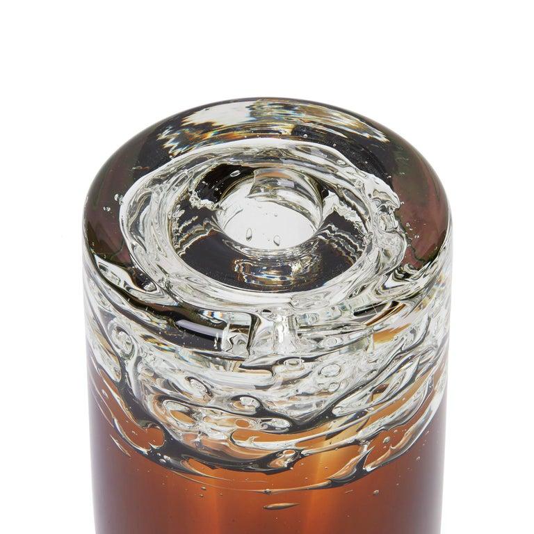 Frantisek Vizner for Skrdlovice Czech Cinnamon Art Glass Vase, circa 1960 For Sale 3