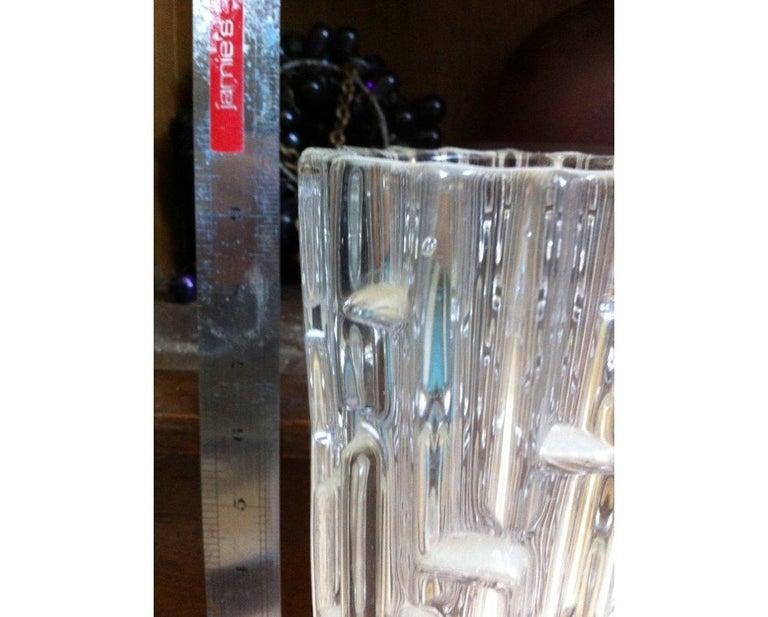 Mid-Century Modern Frantisek Vizner, Sklo Union Czech Art Glass, the Maze', a Good Art Glass Vase For Sale