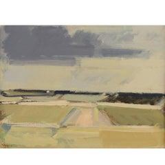 Frantz Vester Pedersen, Landscape in Bright Colors, Oil on Canvas