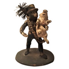 Franz Bergmann, Chimney Sweeper, Miniature Vienna Bronze Sculpture, circa 1900