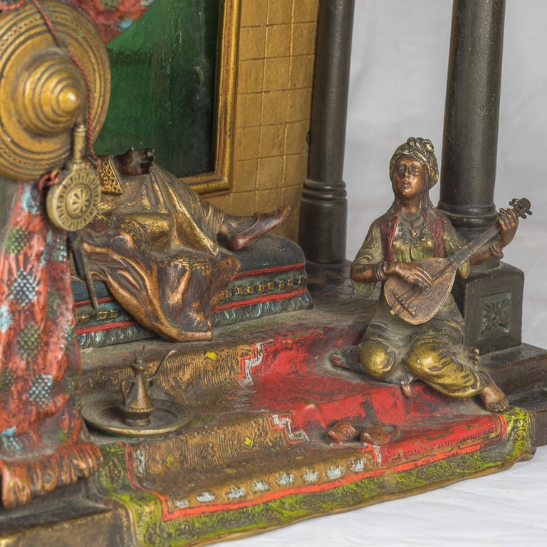 Austrian Cold Painted Bronze Attributed to Franz Bergman For Sale 2