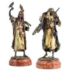 Pair of Austrian Cold Painted Bronze by Bergman