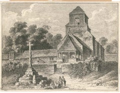Old Church - Original Etching by F.E. Weirotter - Half of 1700