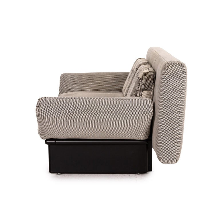 Franz Fertig Joker Fabric Sofa Bed Gray Two Seater Function Sofa Couch For Sale At 1stdibs