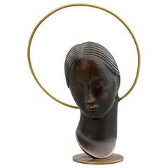 Franz Hagenauer Art Deco Austrian Patinated Bronze Madonna, 1930