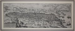 "Barcelona, Antique Map from ""Civitates Orbis Terrarum"" - Etching - Old Master"