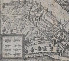 """Basel, Antique Map from """"Civitates Orbis Terrarum"""""""