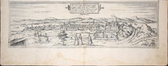 """Buda, Antique Map from """"Civitates Orbis Terrarum"""" - 1572-1617"""