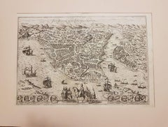 """Byzantium, Antique Map from """"Civitates Orbis Terrarum"""" - 1572-1617"""