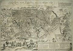 """Cairo, Antique Map from """"Civitates Orbis Terrarum"""""""