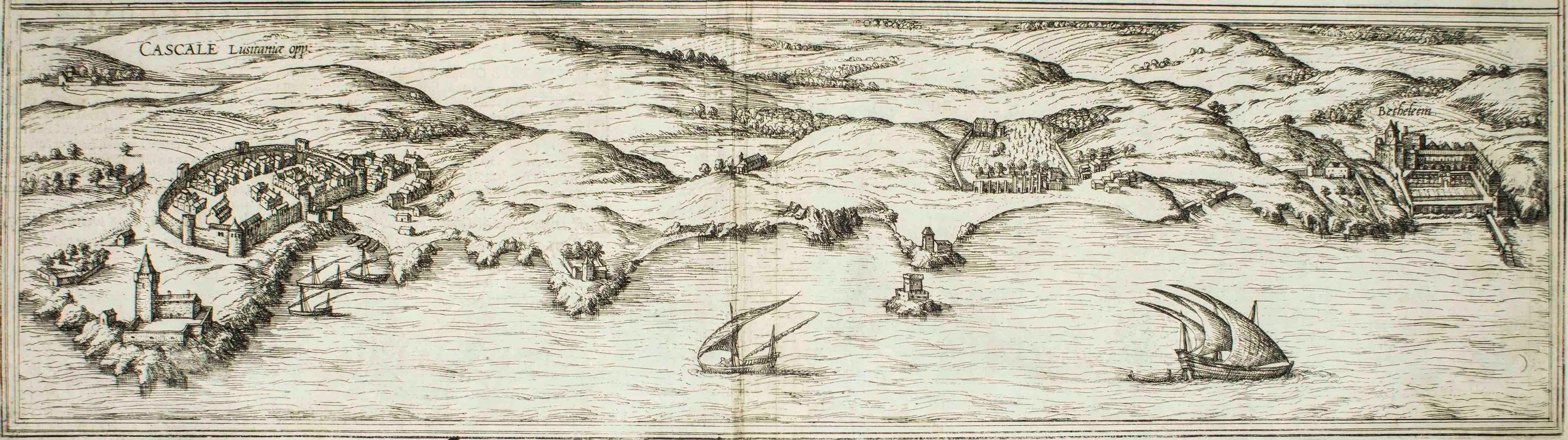 "Cascale, Map from ""Civitates Orbis Terrarum"" - by F. Hogenberg - 1575"