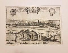 """Danzig, Antique Map from """"Civitates Orbis Terrarum"""" - 1572-1617"""