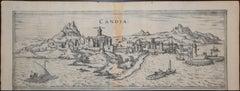 """Heraklion, Map from """"Civitates Orbis Terrarum"""" - by F. Hogenberg - 1575"""