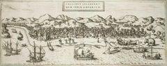 "Kolkata (Calecut), Map from ""Civitates Orbis Terrarum"" - by F. Hogenberg - 1575"