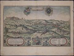 """Limbourg, Antique Map from """"Civitates Orbis Terrarum"""""""