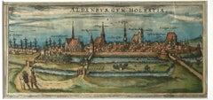 """Map of Aldenburgum Holsatie - From """"Civitates Orbium Terrarum"""" - 1575"""
