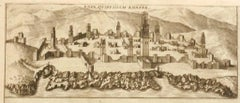 Map of Casablanca - Etching by G. Braun and F. Hogenberg - 16th Century
