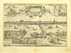 Map of Kampen, Netherlands - by G. Braun and F. Hogenberg - Late 16th Century