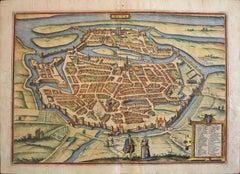 """Metz, Antique Map from """"Civitates Orbis Terrarum"""" - 1572-1617"""