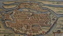 """Metz, Antique Map from """"Civitates Orbis Terrarum"""""""