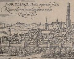 """Nordlingen, Antique Map from""""Civitates Orbis Terrarum"""""""