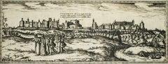 "Oxford, Map from ""Civitates Orbis Terrarum"" - by F. Hogenberg - 1575"