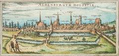 """Stade, Antique Map from """"Civitates Orbis Terrarum"""" - 1572-1617"""