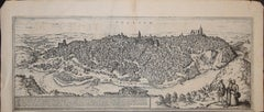 "Toledo, Map from ""Civitates Orbis Terrarum"" - by F. Hogenberg - 1575"