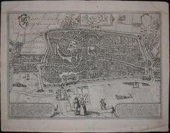 """Utrecht, Antique Map from """"Civitates Orbis Terrarum"""""""