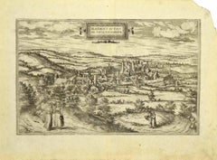 View of Blanmont - Etching by G. Braun and F. Hogenberg - Late 16th Century