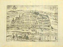 View of Blois - Original Etching by G. Braun and F. Hogenberg -Late 16th Century