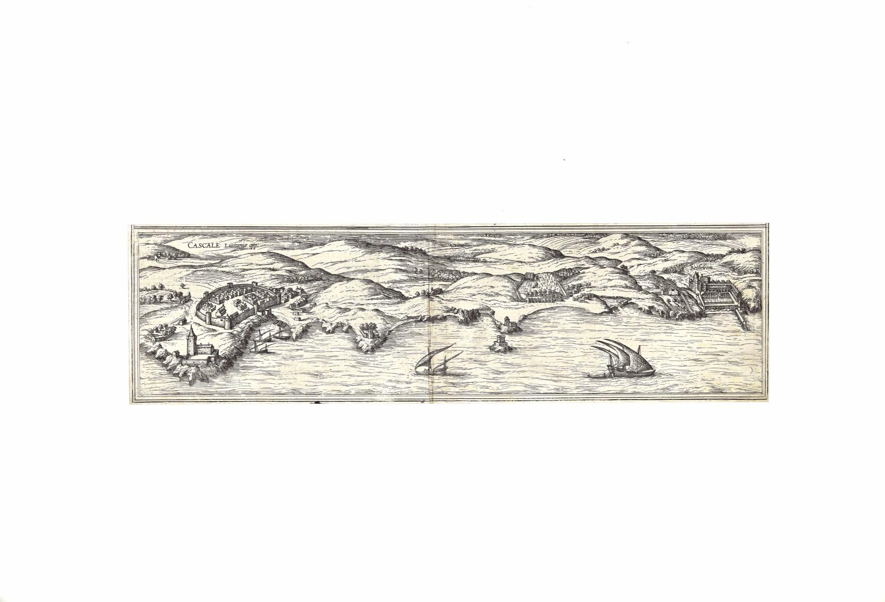 View of Cascals - Etching by G. Braun and F. Hogenberg -Late 16th Century