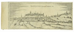 View of Freising - Etching by G. Braun and F. Hogenberg - Late 16th Century