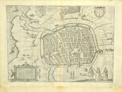 View of Haarlem, The Netherlands - by G. Braun and F. Hogenberg - Late 1500