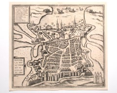 View of La Rochelle - Etching by G. Braun and F. Hogenberg - Late 16th Century