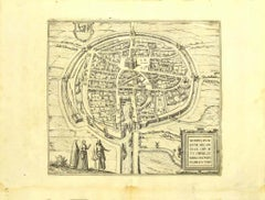 View of Middelburg - Original Etching by G. Braun and F. Hogenberg - Late 1500