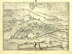 View of Namur (Belgium) - Etching by G. Braun and F. Hogenberg - Late 1500