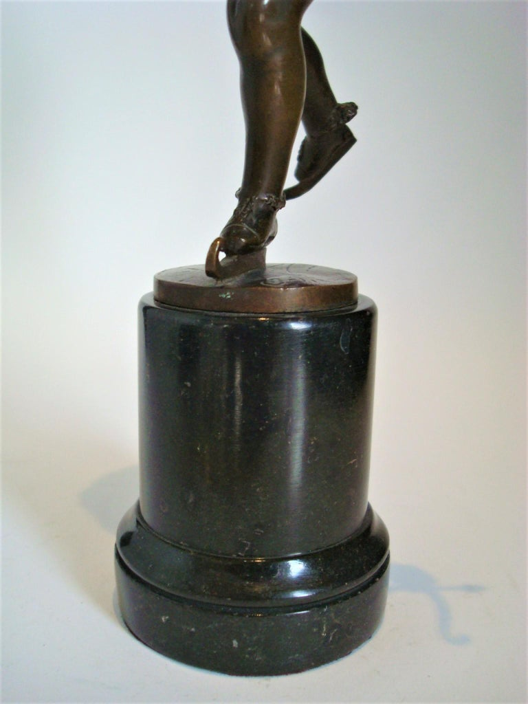 Franz Iffland Bronze Sculpture of a Cupid Boy Ice Skater, ca 1900 For Sale 5