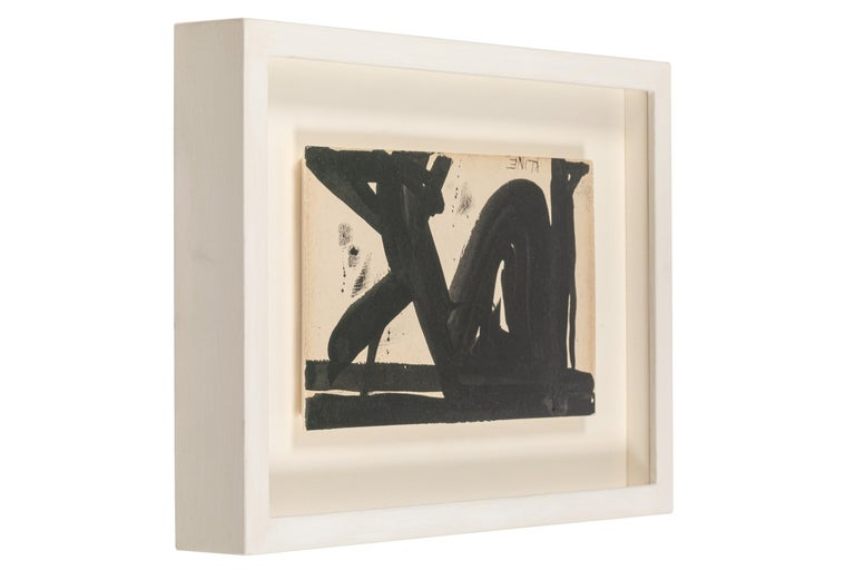 American Franz Kline, Signed Abstract Ink on Paper, USA 1950s For Sale