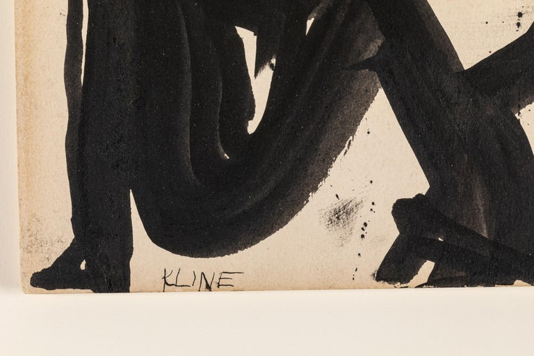 Franz Kline, Signed Abstract Ink on Paper, USA 1950s In Good Condition For Sale In New York, NY