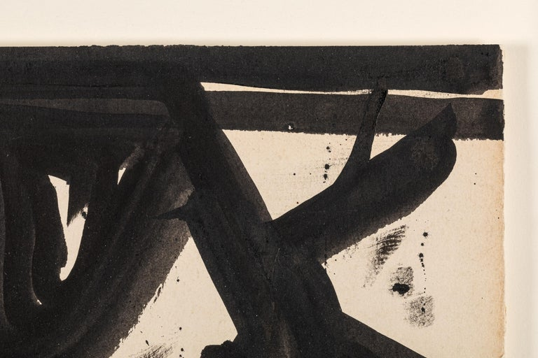 Franz Kline, Signed Abstract Ink on Paper, USA 1950s For Sale 1