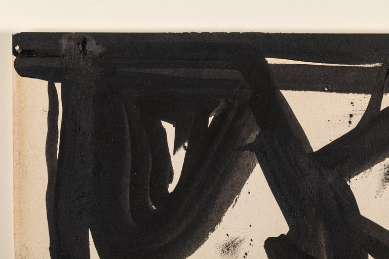 Franz Kline, Signed Abstract Ink on Paper, USA 1950s For Sale 2