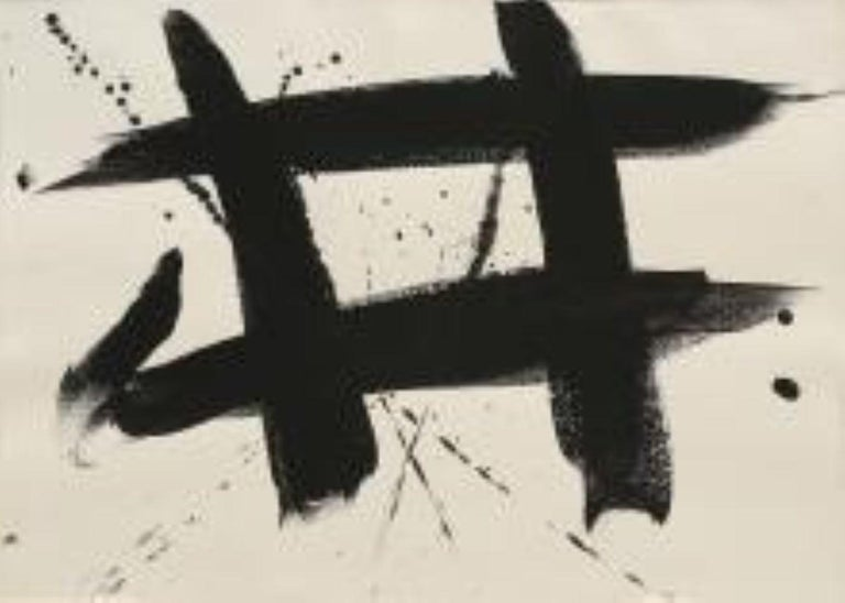 Franz Kline Abstract Painting - Untitled ink on paper