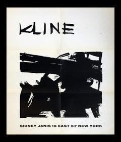 Franz Kline at Sidney Janis (1950s exhibition poster)