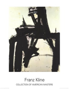 "Franz Kline-Untitled-49"" x 37.5""-Poster-1997-Abstract-Black & White"