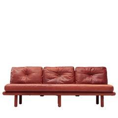 Franz Köttgen for Kill International Three-Seat Sofa in Red Leather