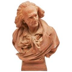 Franz Liszt Terracotta Bust by Lucian Pallez, circa 1900