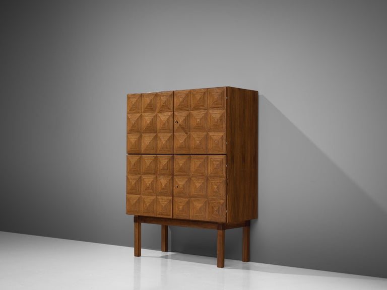 Mid-Century Modern Franz Meyer Highboard in Rosewood For Sale
